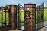 Клинкерная крышка на забор KingKlinker Ониксовый чёрный (17) 445х585х106, фото 2