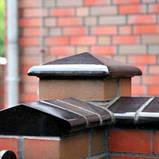 Клинкерная крышка на забор KingKlinker Ониксовый чёрный (17) 445х585х106, фото 3