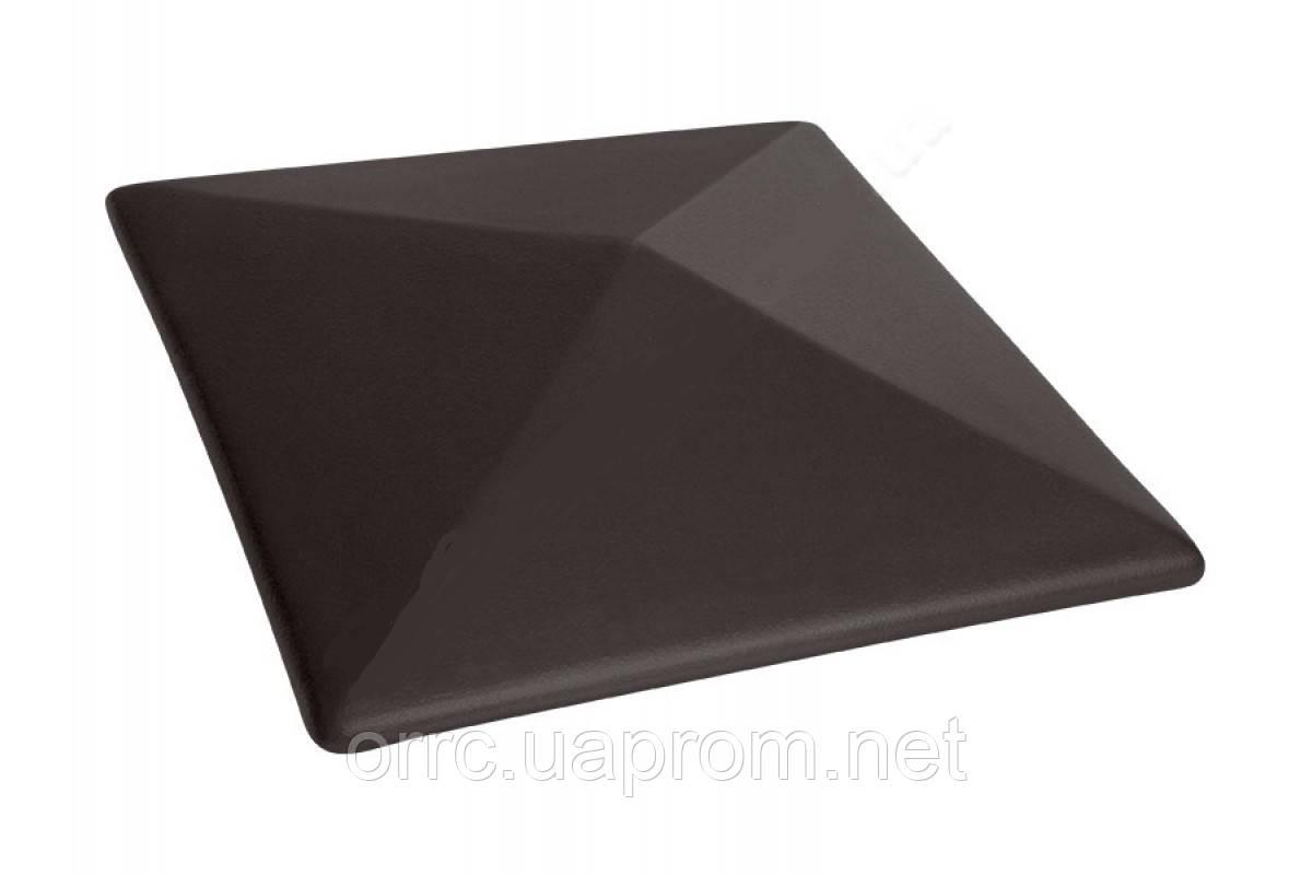 Клинкерная крышка на забор KingKlinker  Вулканический черный (18) 485x585x106мм