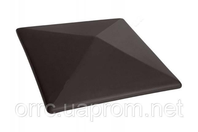 Клинкерная крышка на забор KingKlinker  Вулканический черный (18) 485x585x106мм, фото 2
