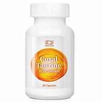 """Препарат для сердца """"Корал Таурин""""- нормализует проводимость нервных клеток головного мозга (60 капсул)"""