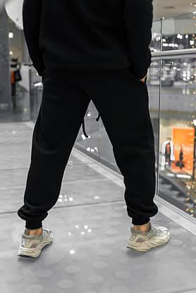 Штаны зимние мужские на флисе Intruder черные спортивные теплые мужские брюки, фото 2