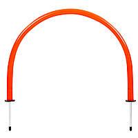 Арка тренировочная (1шт) YT-T160-1 (пластик, металл, h-35см, l-52см, оранжевый)