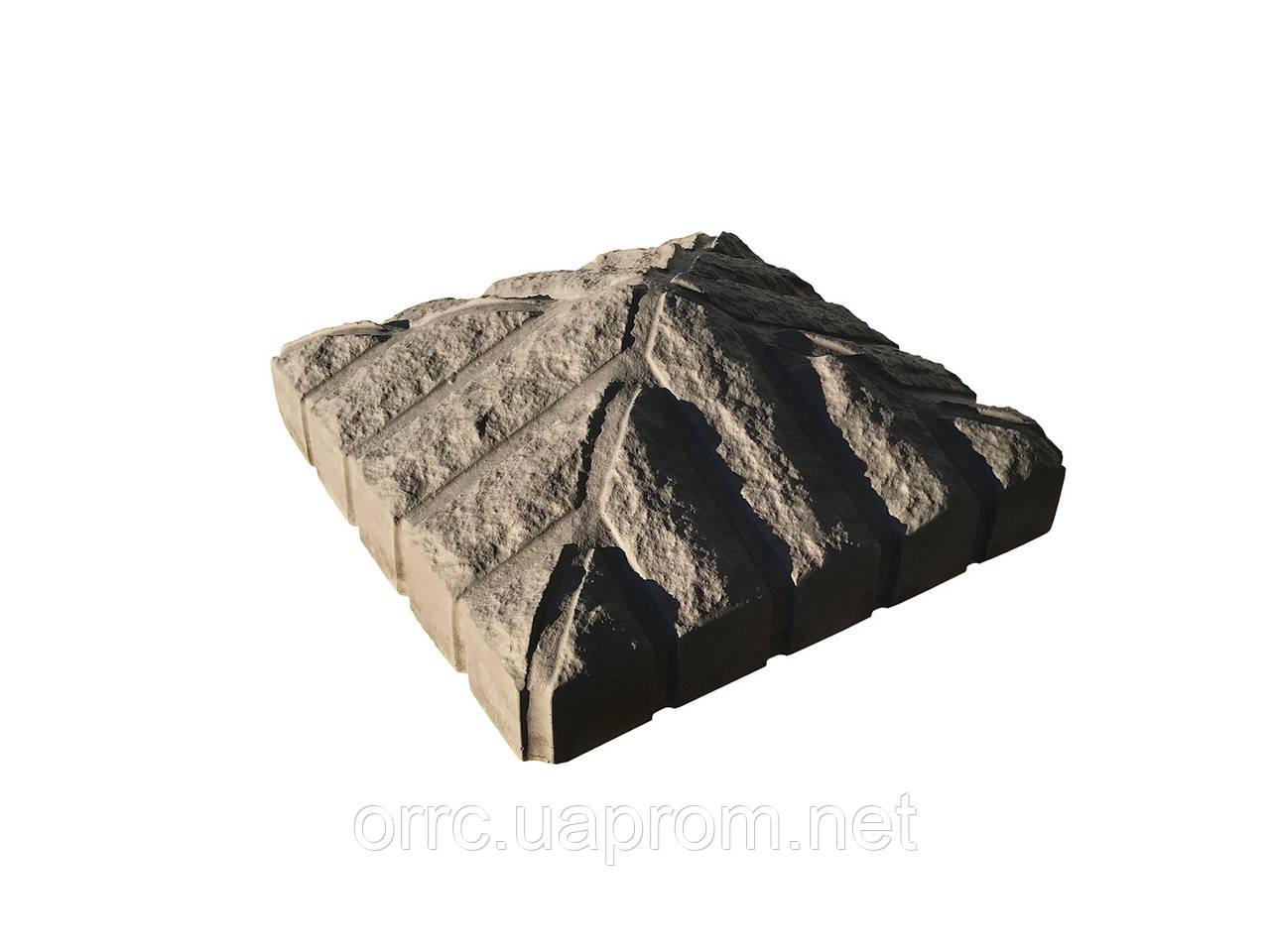 """Крышка на забор бетонная Мегалит """"Скала"""" 410х410х150 мм"""