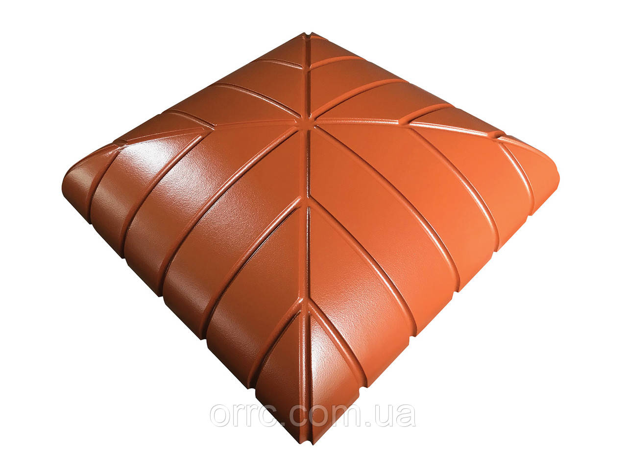"Крышка на забор бетонная Мегалит ""Раунд Клинкер"" 445х445х115 мм"