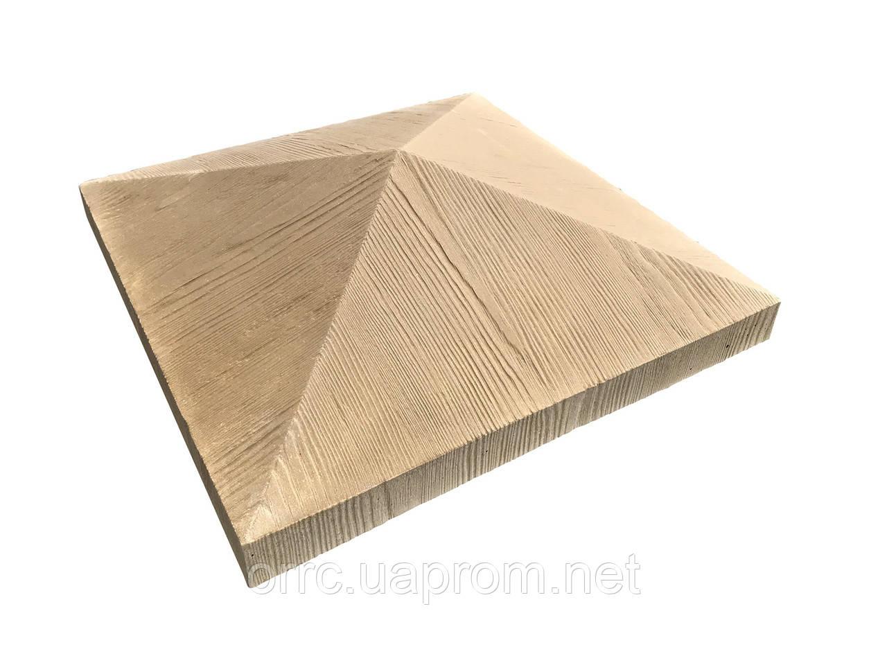 """Крышка на забор бетонная Мегалит """"Структура"""" 440х440х120 мм"""