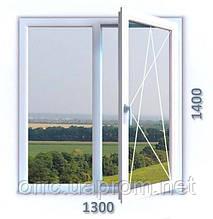 Поворотно-откидное двухчастное окно VIGRAND 6 кам 1300*1400