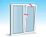 Двухчастное поворотно-откидное окно Брокельман 5 кам 1300*1400, фото 4