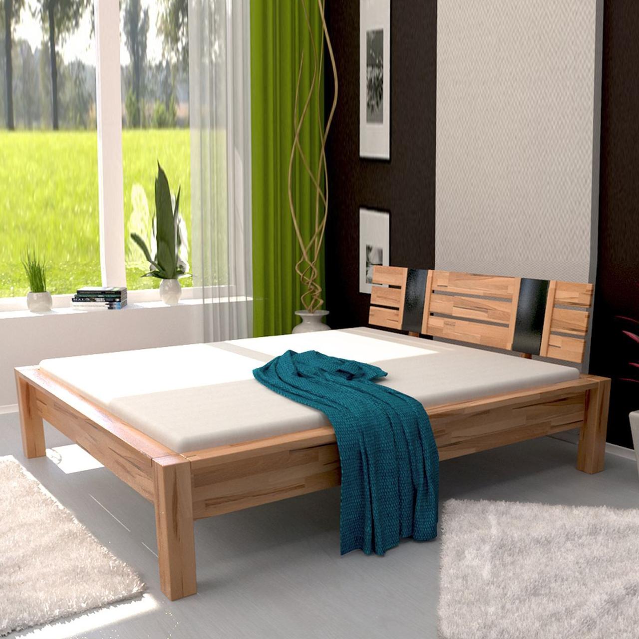 Ліжко дерев'яне двоспальне B100