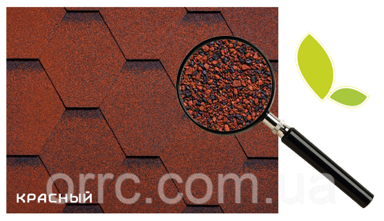 Битумная черепица RUFLEX МINT Sota Красный, 3м2