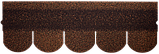 Битумная черепица RUFLEX Ornami Медный Отлив, 3м2, фото 2