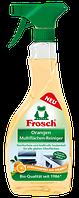 Спрей очиститель для гладких поверхностей (безфосфатный) апельсин Frosch Fett Entferner Orangen