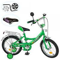 Детский двухколесный велосипед PROFI 16 дюймов P 1642A, зеленый