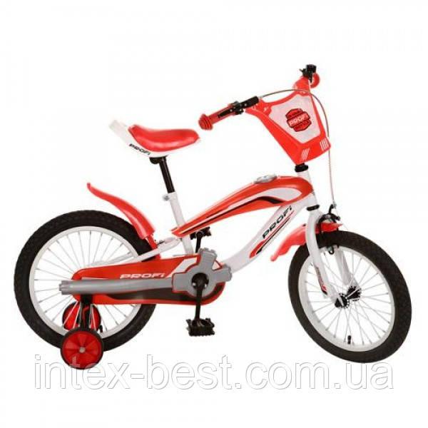 Детский двухколесный велосипед PROFI 16 дюймов SX16-01-2, Красно-белый
