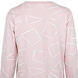 Кофта женская коттоновая розовая, стильный осенний свитшот, фото 4