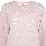 Кофта женская коттоновая розовая, стильный осенний свитшот, фото 3