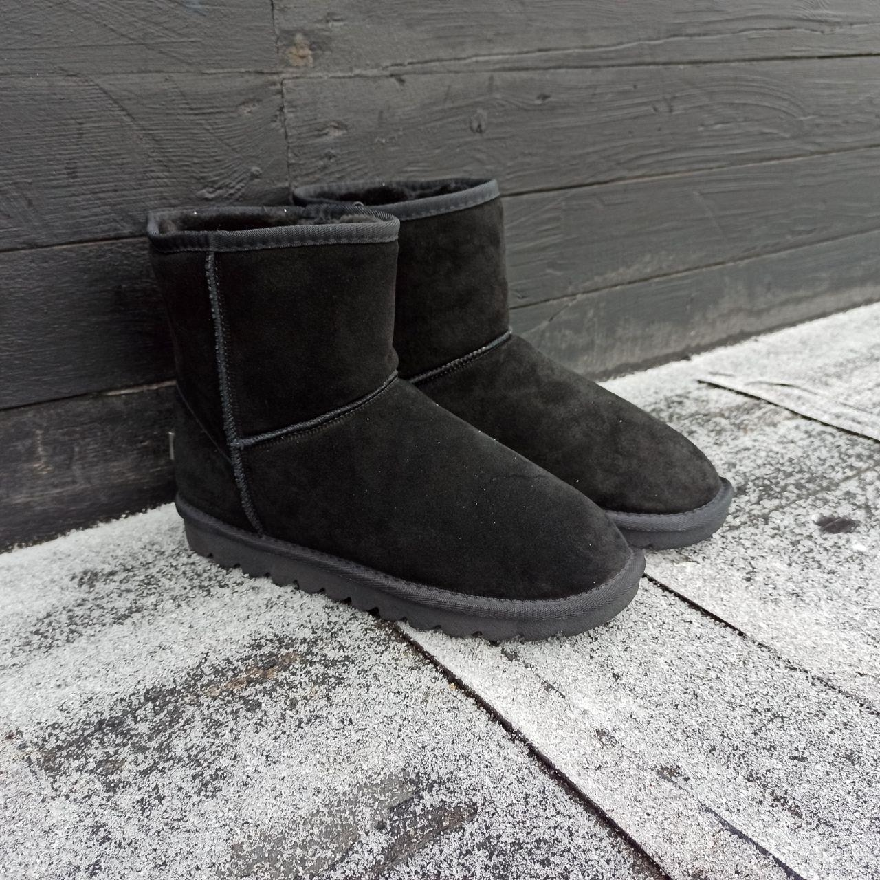 41 размер Угги UGG ботинки ВЫСОКИЕ мужские мокасины зимние теплые на меху замша натуральная