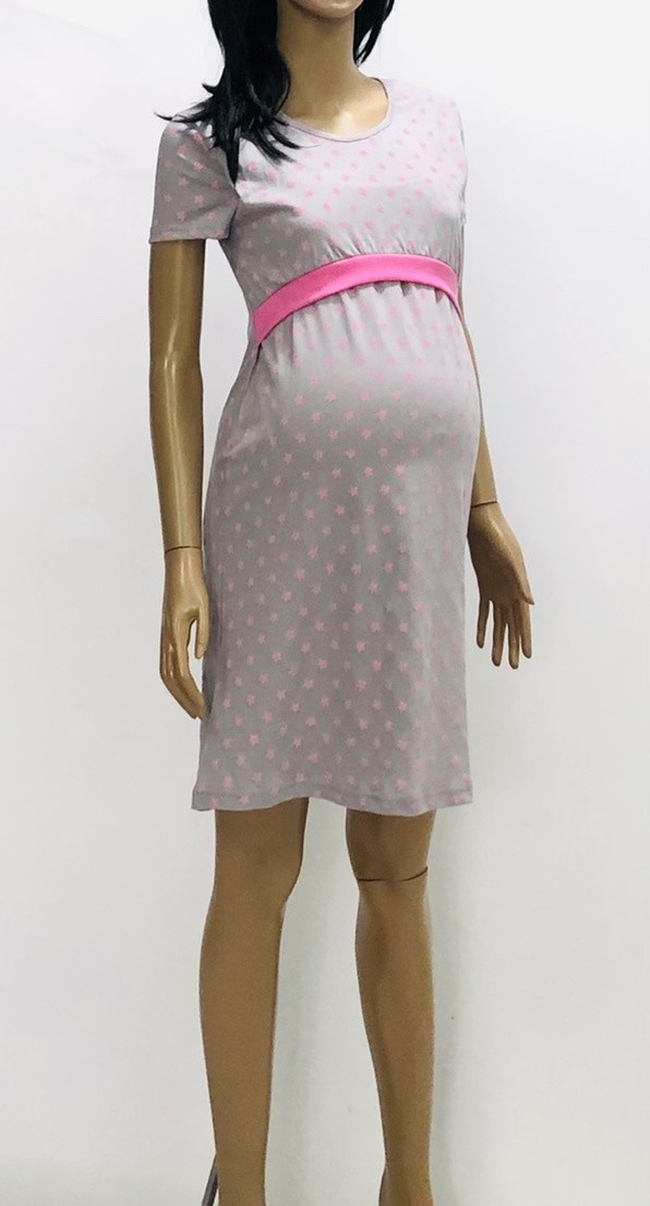 Женская ночная рубашка для беременных и кормлящих, хлопок 44(S), 46(М), 48(М/L), 50(L)