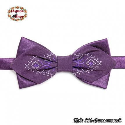 Фигурная фиолетовая вышитая бабочка Стиль, фото 2