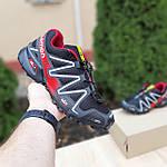 Чоловічі кросівки Salomon Speedcross 3 (чорно-червоні) 10325, фото 2