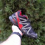 Чоловічі кросівки Salomon Speedcross 3 (чорно-червоні) 10325, фото 4