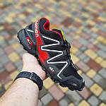 Чоловічі кросівки Salomon Speedcross 3 (чорно-червоні) 10325, фото 8