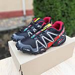 Чоловічі кросівки Salomon Speedcross 3 (чорно-червоні) 10325, фото 5
