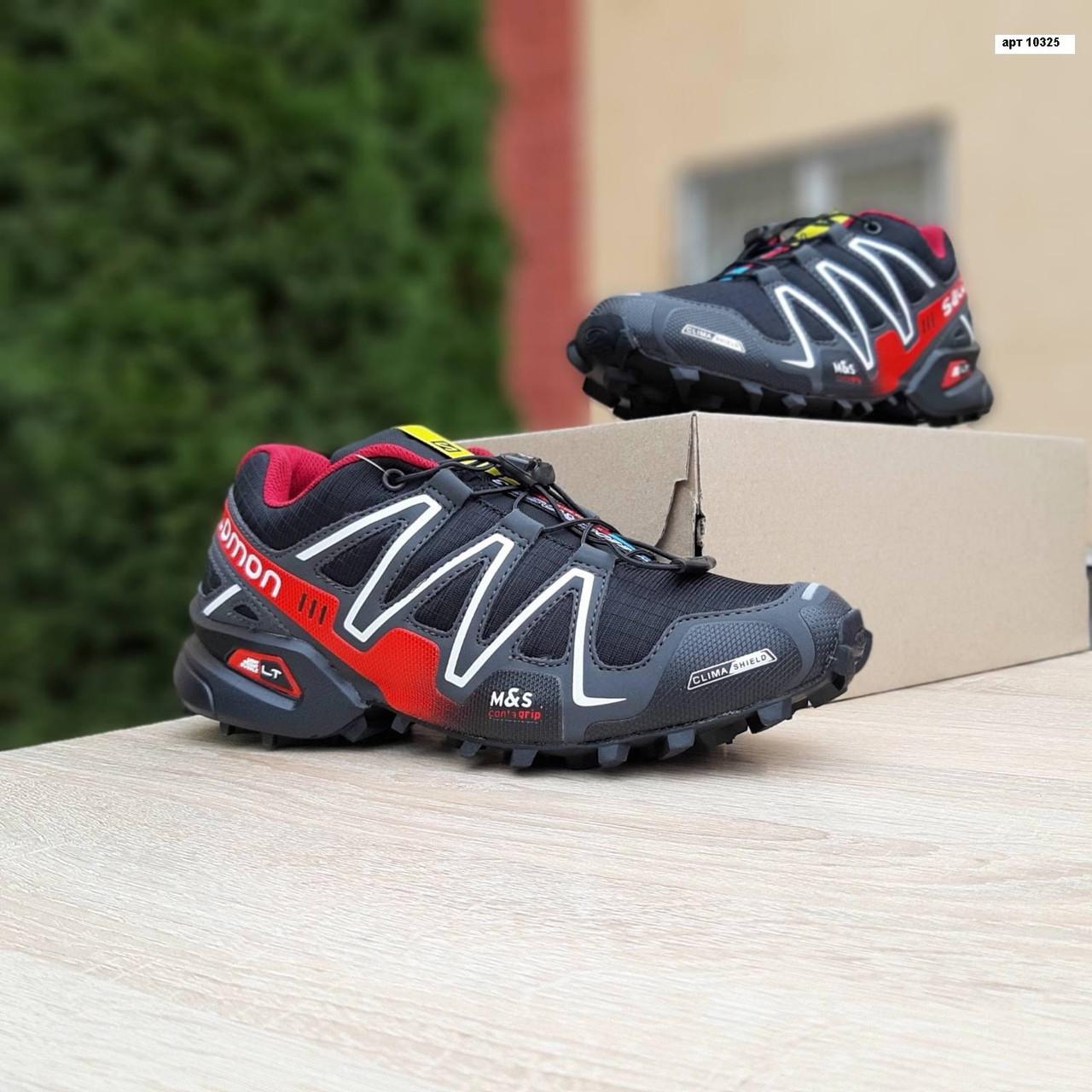 Чоловічі кросівки Salomon Speedcross 3 (чорно-червоні) 10325