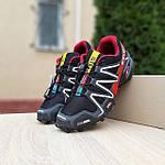 Чоловічі кросівки Salomon Speedcross 3 (чорно-червоні) 10325, фото 7