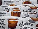 Ткань вафельная ширина 50 см Мокко, фото 4