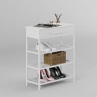 "Банкетка з полицями для взуття ""Сафарі Чорна"", фото 1"