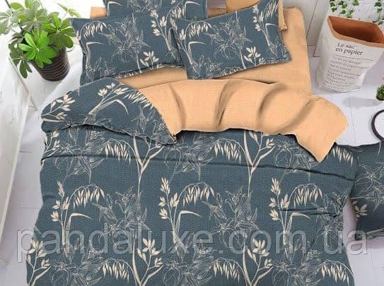 Постельное белье бязь голд, красивый двуспальный комплект Растения, фото 2