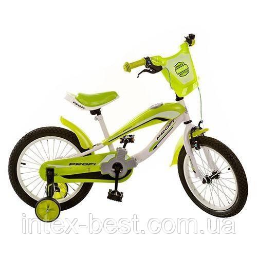Детский двухколесный велосипед PROFI 16 дюймов SX16-01-4, Зеленый