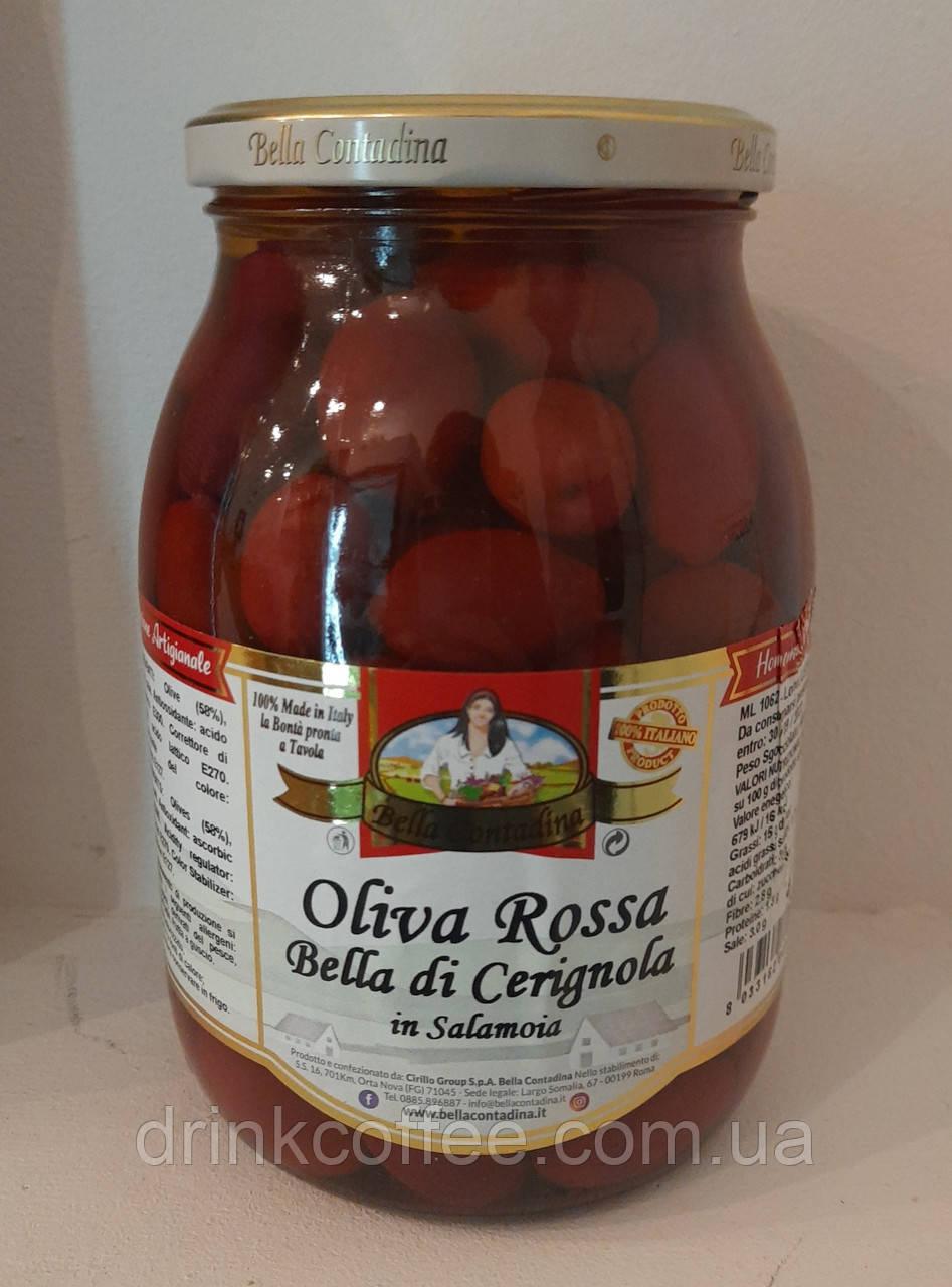 Маслины Oliva Rossa Bella di Cerignola с косточкой Италия 1062 мл