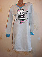 Утепленная женская ночная рубашка, начес. Турция L(48-50)