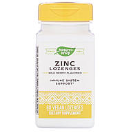 Nature's way Леденцы Цинк, витамин С и эхинацея, 23 мг, со вкусом лесной ягоды, 60 веганских леденцов, фото 1
