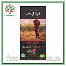 Шоколад черный Cachet Bio Organic Fruits Des Bois 100г