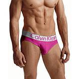 Трусы-брифы мужские Calvin Klein серия Steel (M, L, 2X)-розовый код 4047, фото 2