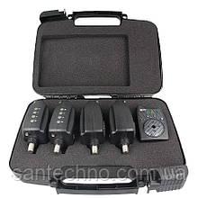Набор сигнализаторов поклевки с пейджером GC SN-55*4