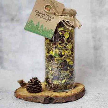 Травяные чаи в стеклянной банке