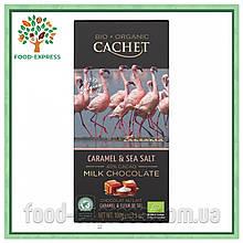 Шоколад  Cachet с карамелью и морской солью 100г