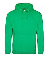 Худи мужская с капюшоном зеленого цвета, фото 1