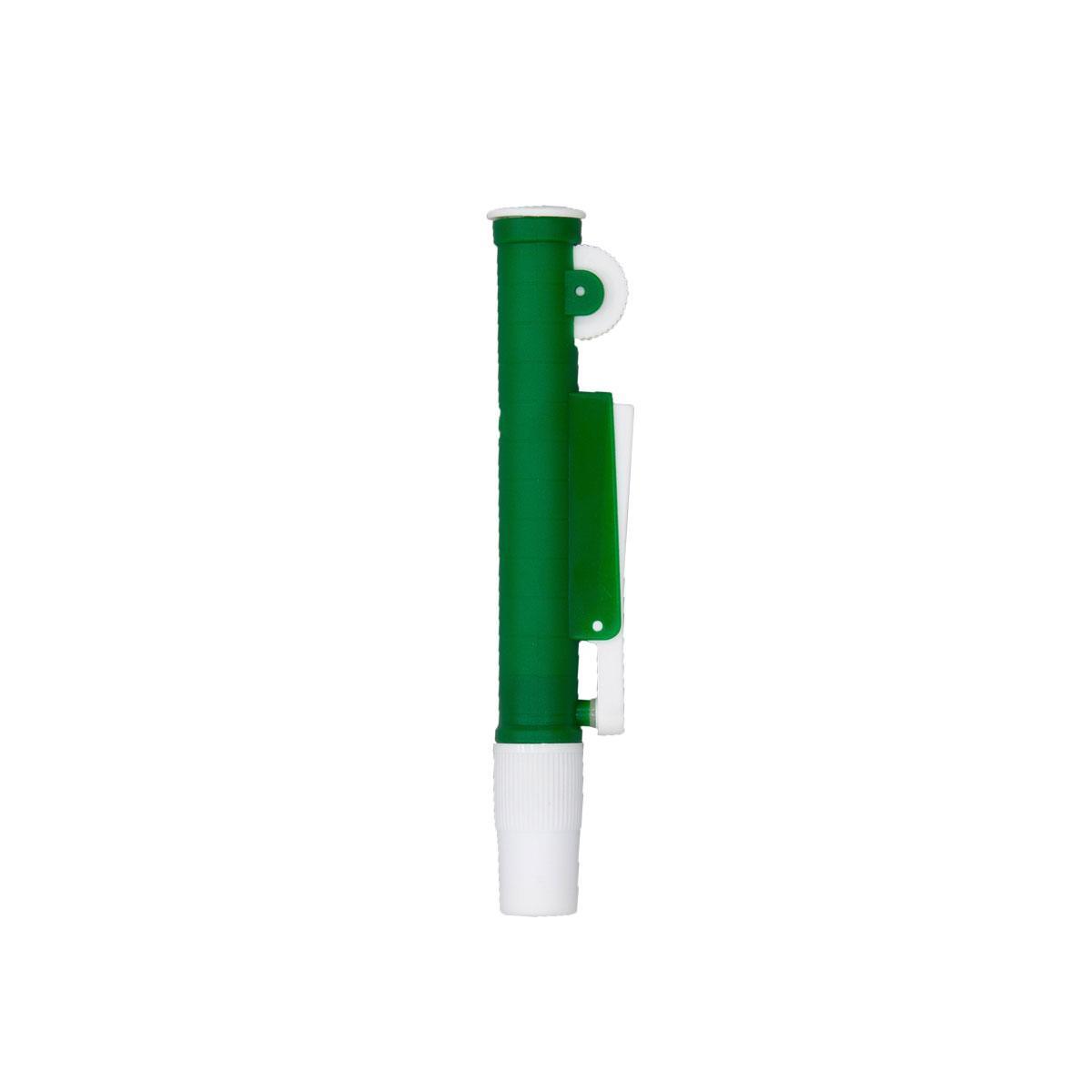 Дозатор для серологических пипеток, объемом 10 мл зеленого цвета