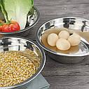 Кухонная миска для смешивания из нержавеющей стали Ø22 см, фото 4