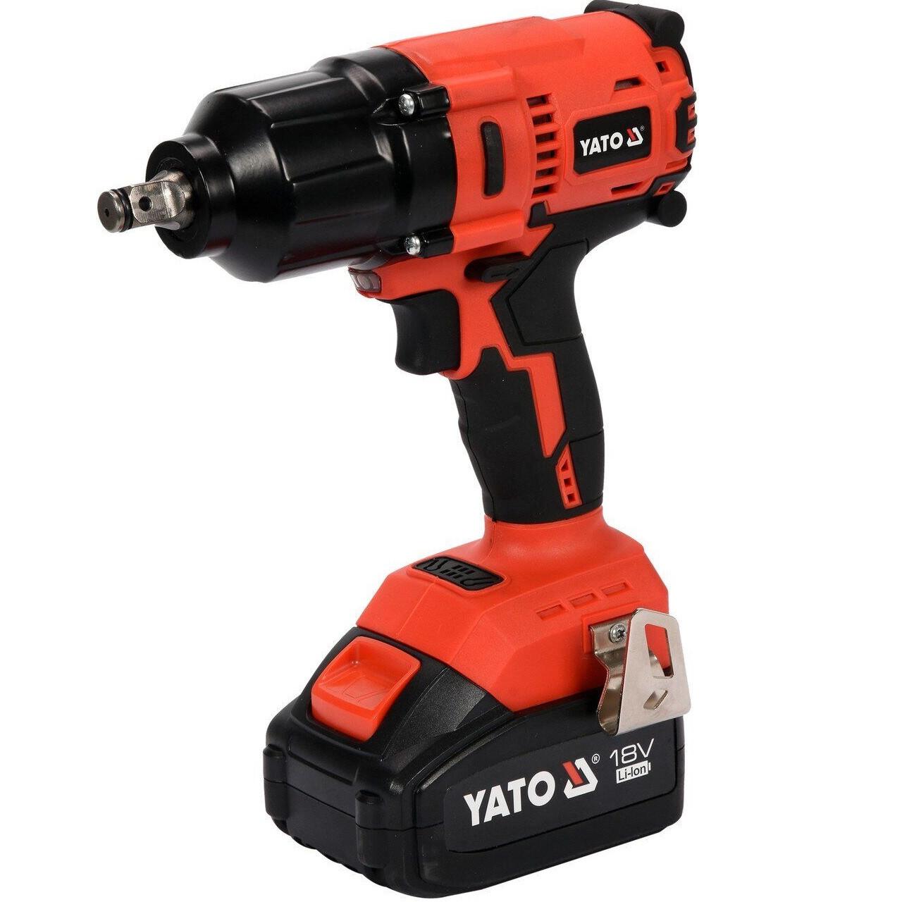 Гайковерт ударный аккумуляторный бесщеточный YATO 1/2'', 18 V 700 Hm (YT-82806)