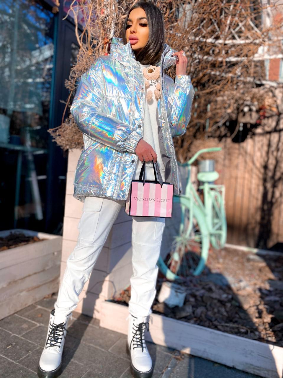 Жіноча куртка з плащової тканини хамеліон з капюшоном Camellia