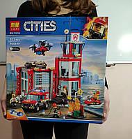 Конструктор Лего Сити Пожарная станция, пожарная серия 533 дет Lari 11215 (аналог LEGO City 60215)