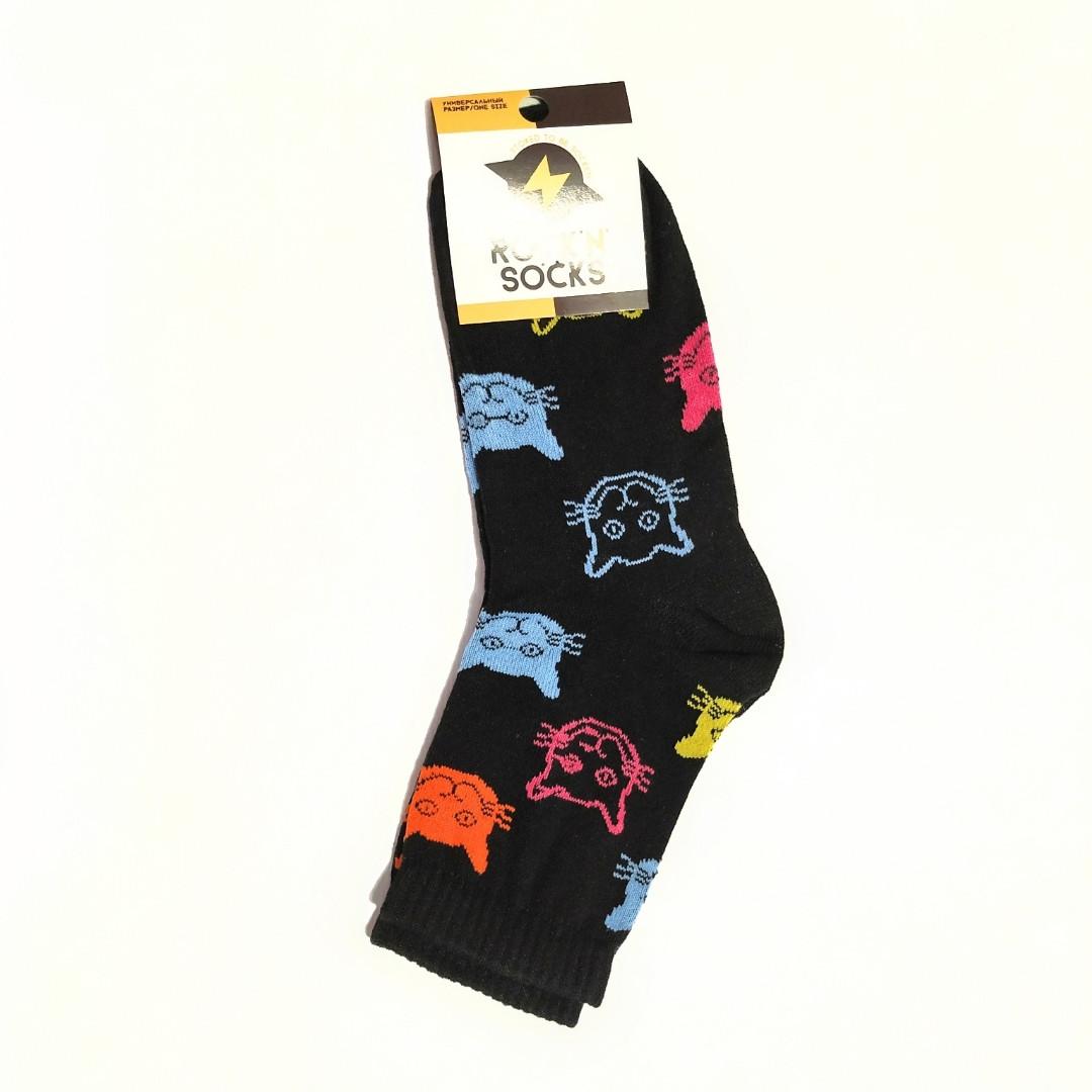 Носки женские с принтом 🐈 Rock n socks размер 36-40