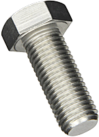 Болт М5*20 DIN933 5.8 с шестигранной головкой