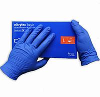 Нитриловые перчатки медицинские Nitrylex Basic | Размер L